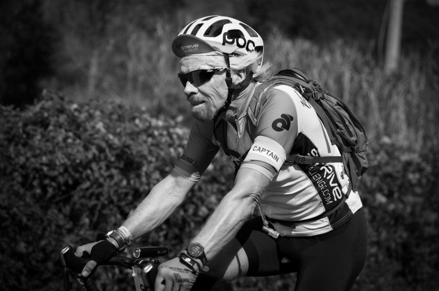 Richard Branson virgin strive challenge 2016 cycle