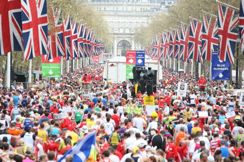 London Marathon finish line