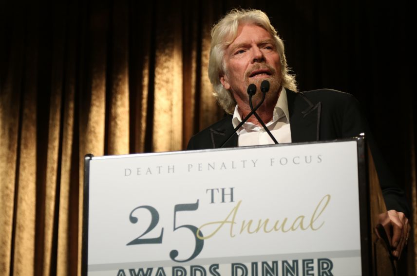 Richard Branson Abolition Award from Death Penalty Focus