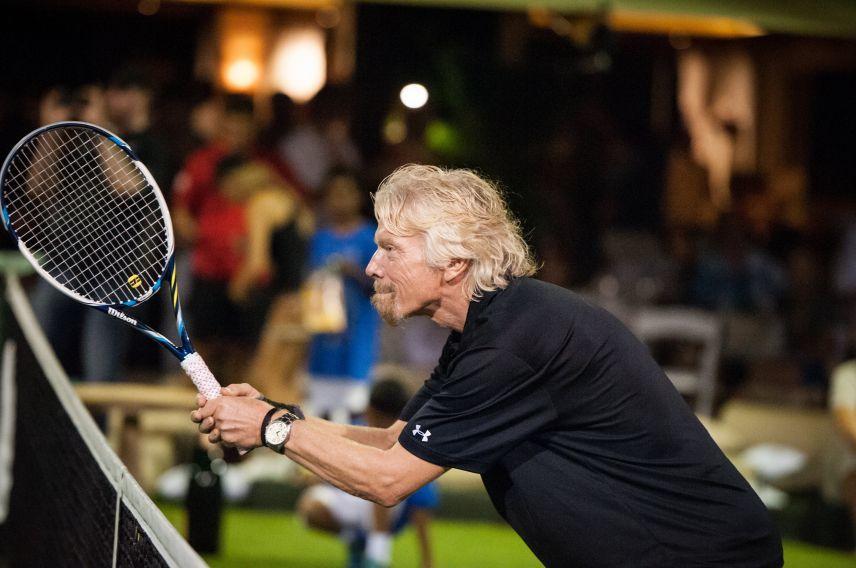 Richard Branson tennis Necker Cup