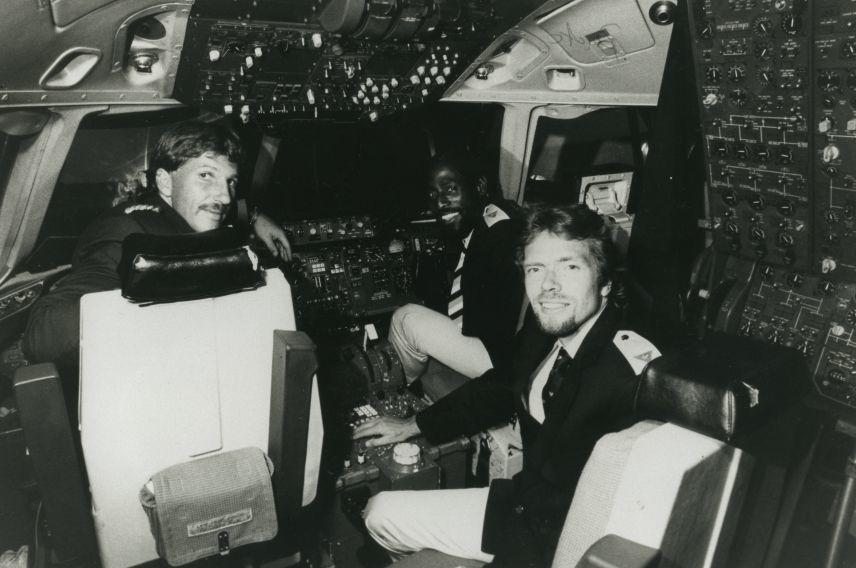 Richard Branson Virgin Atlantic pilots
