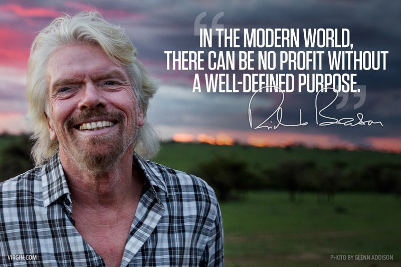 Richard Branson photoquote purpose in business
