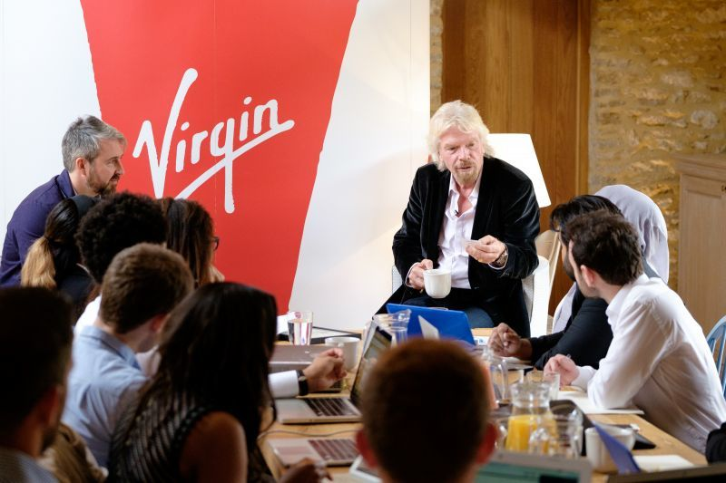 Richard Branson branding workshop with Virgin StartUp