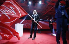Richard Branson virgin media ireland flag