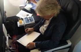 Richard Branson writing a letter
