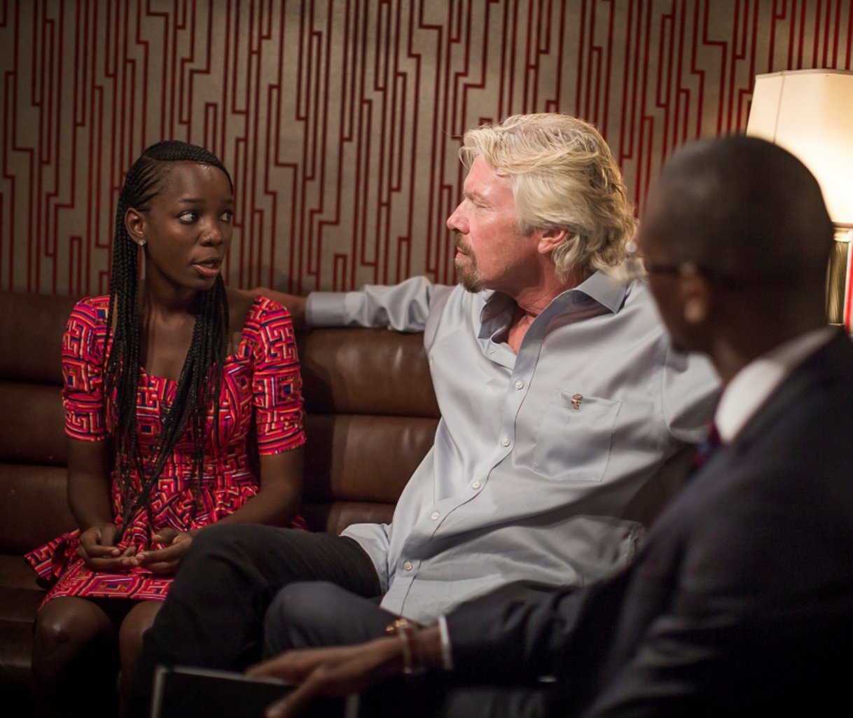 Richard Branson with the Challenge winners
