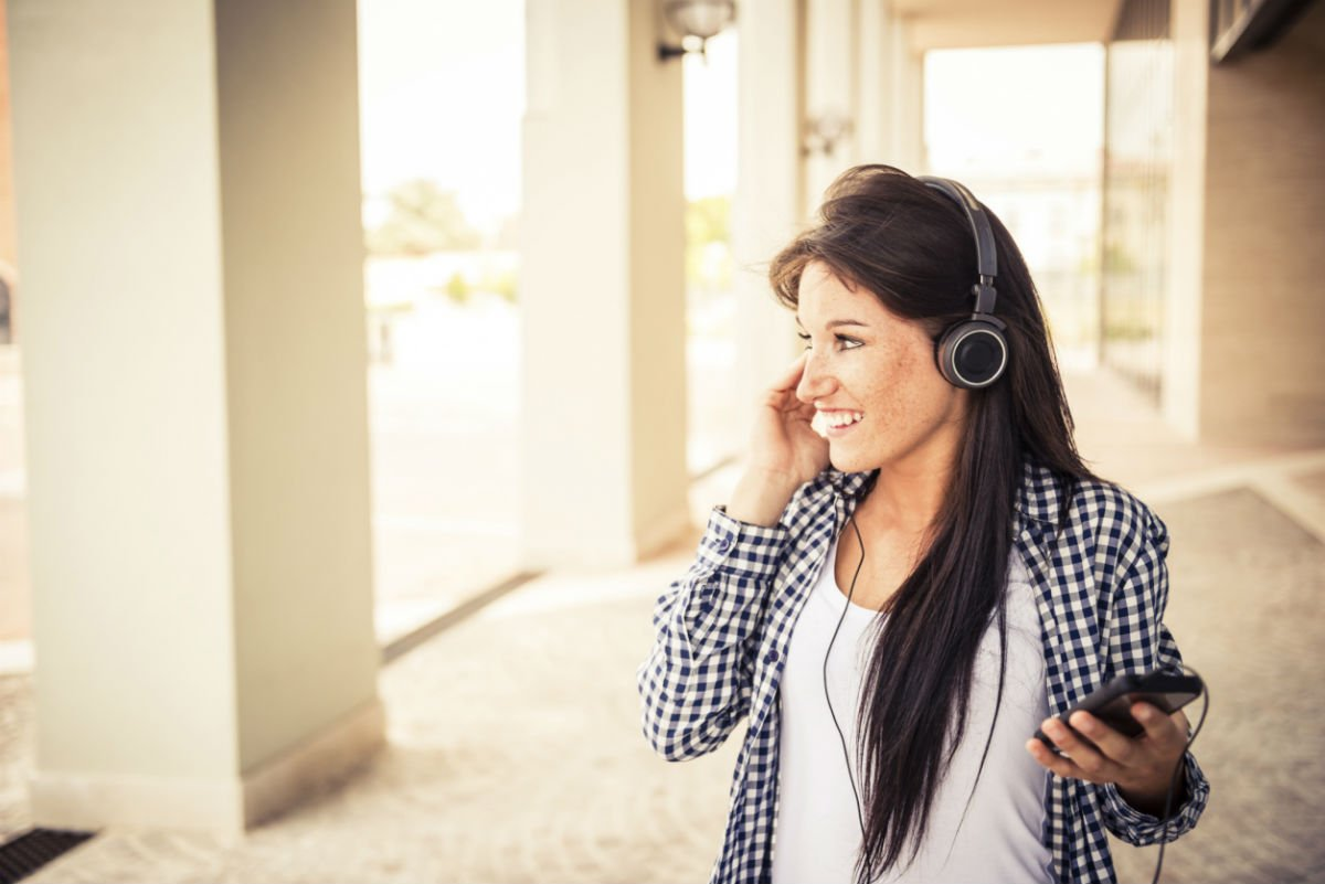 Image result for teen listening to music
