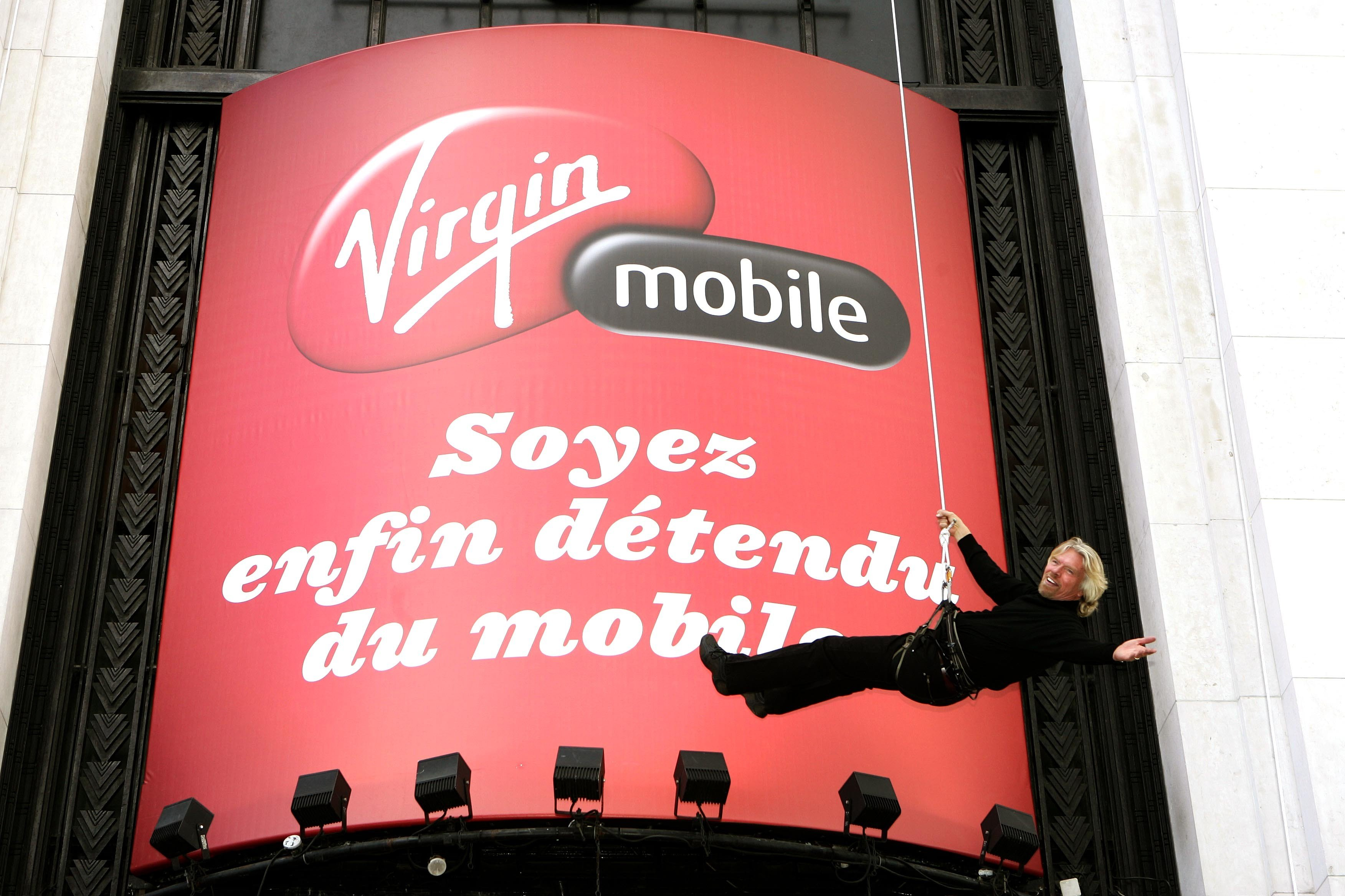 Richard Branson launching mobile fr