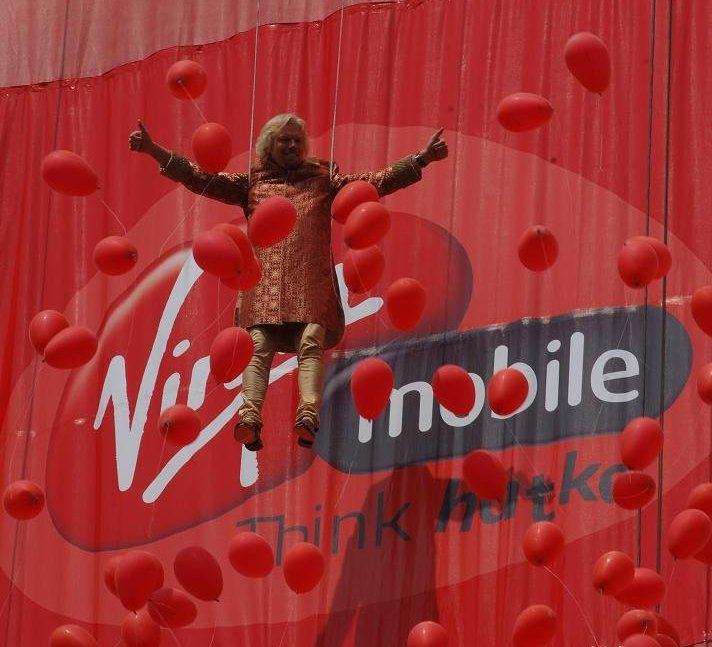 Richard Branson launches Virgin Mobile India