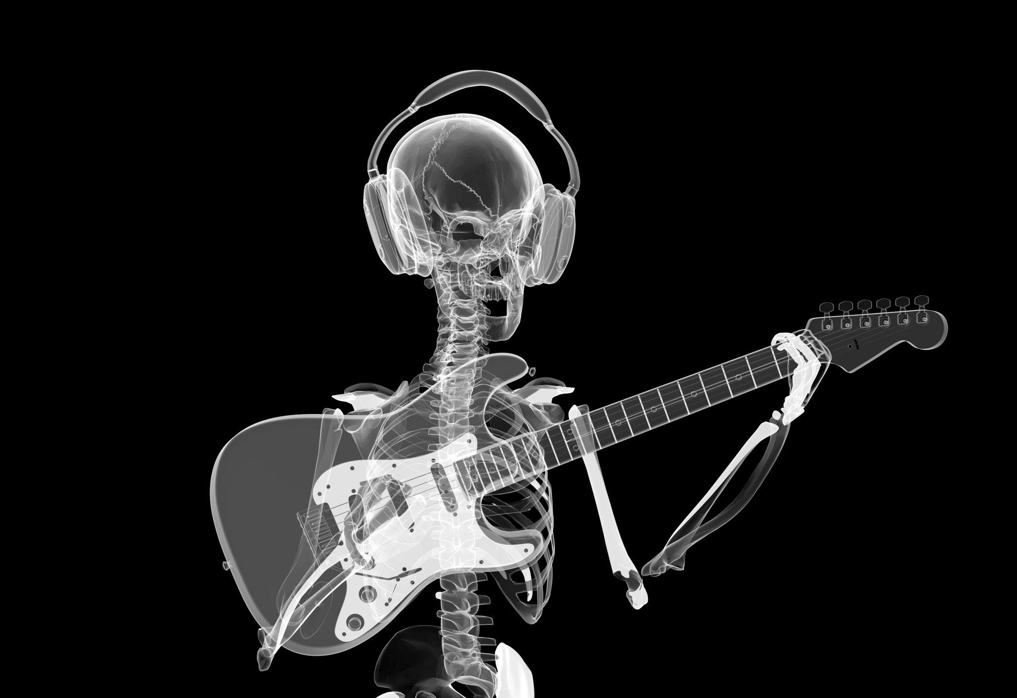 картинки скелета с микрофоном несмотря низкие