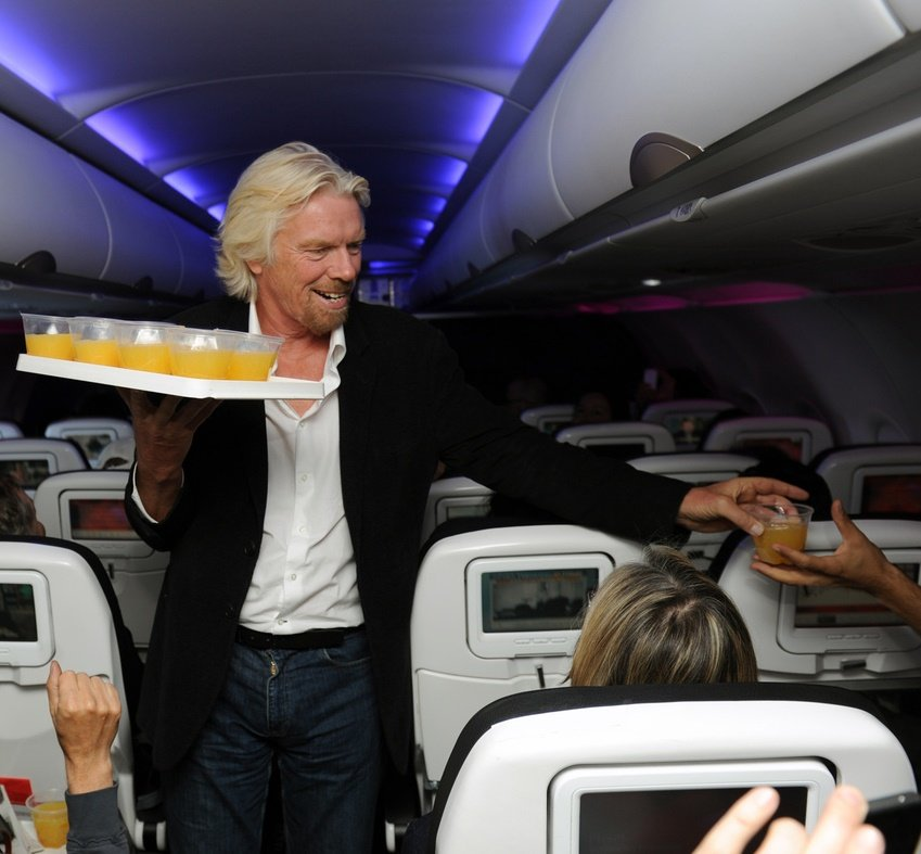 Working as a member of crew on Virgin Atlantic