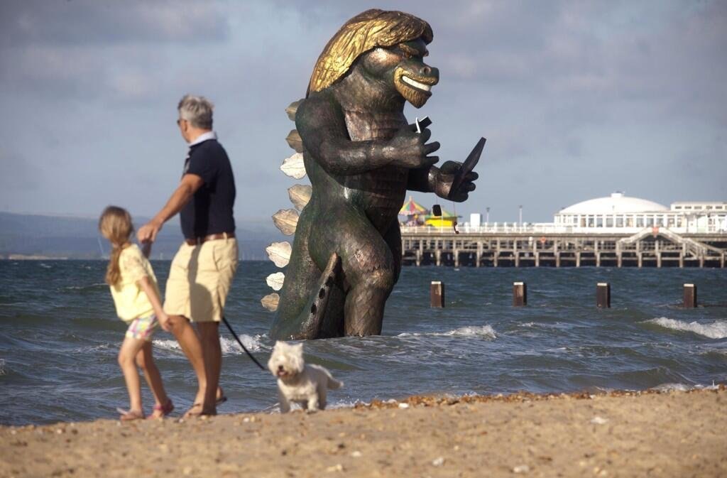 what s that coming out of the sea is it a monster virgin