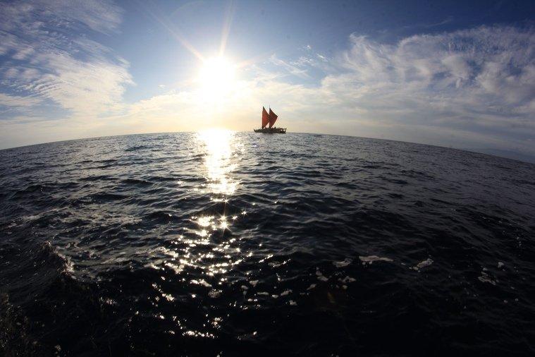 Hokulea sailing