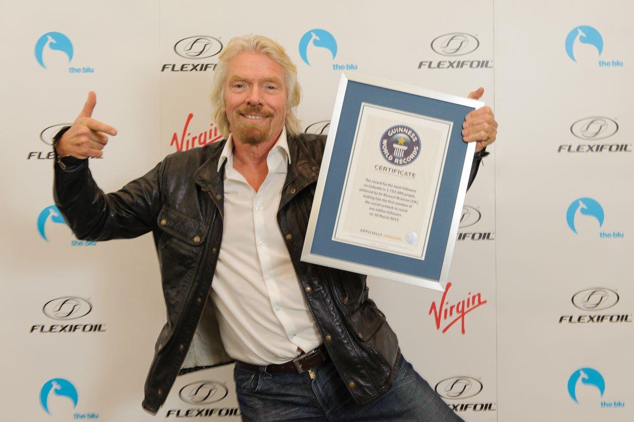 Richard LinkedIn world record