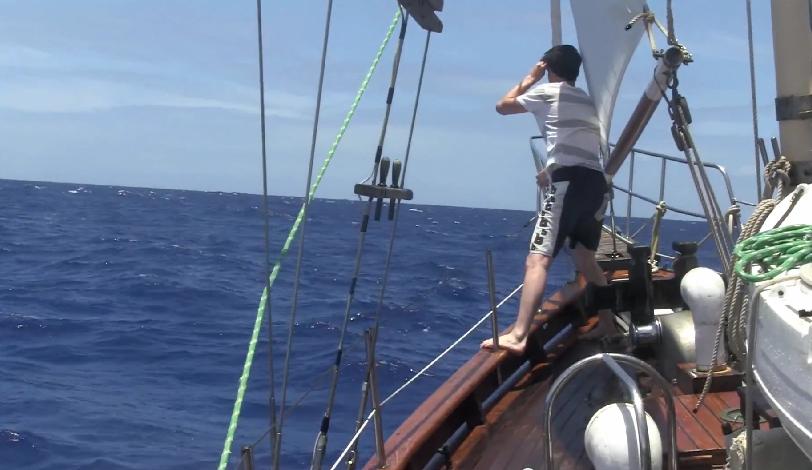 Josh at sea