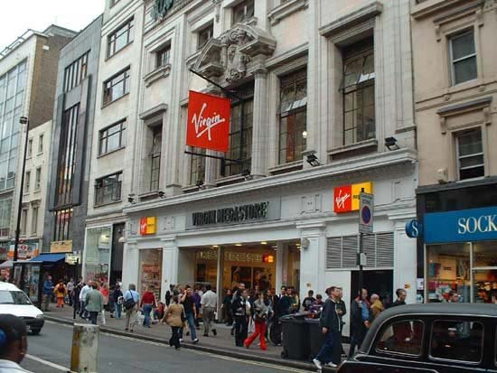 Virgin Megastore Oxford Street London