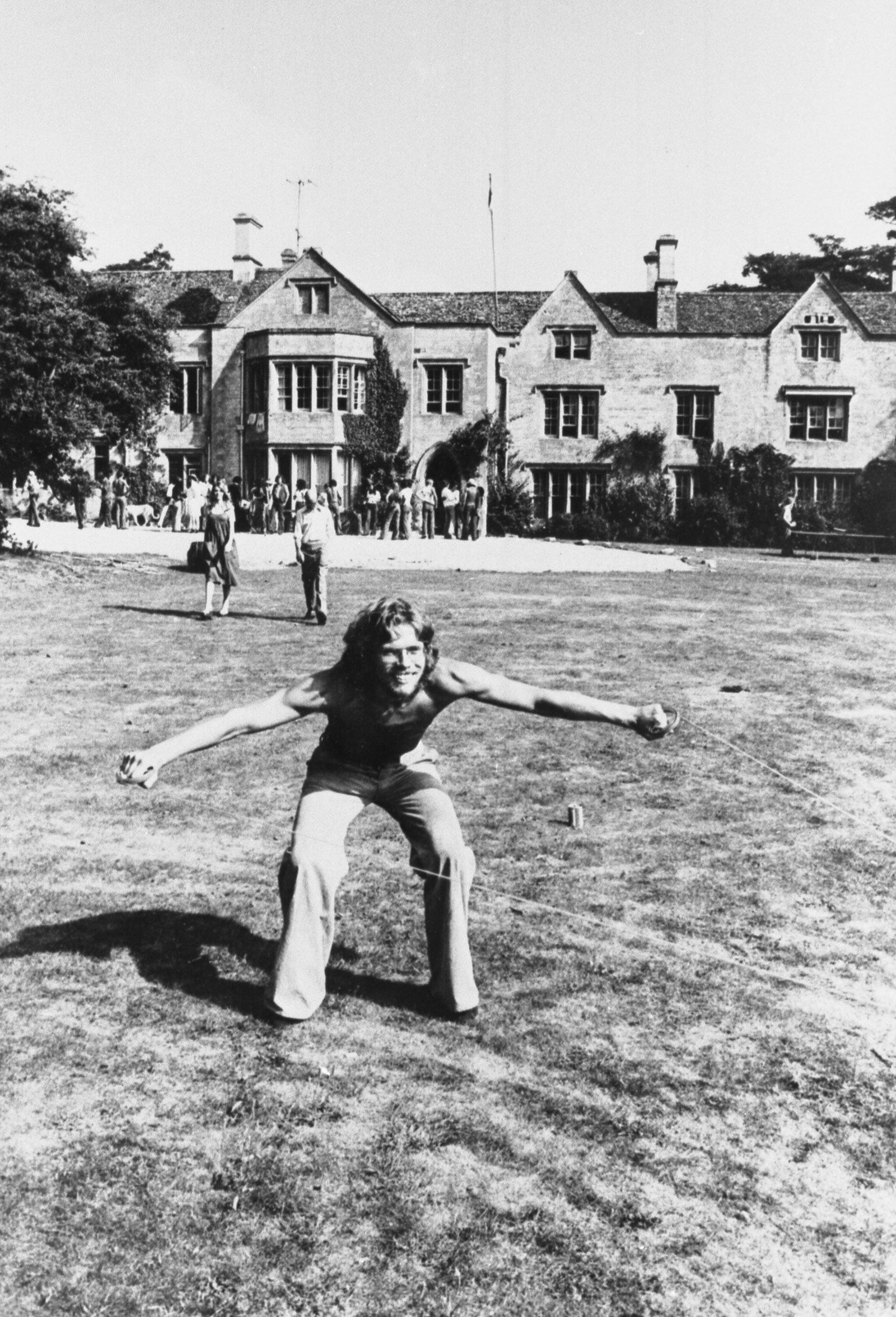 Richard Branson at the Manor