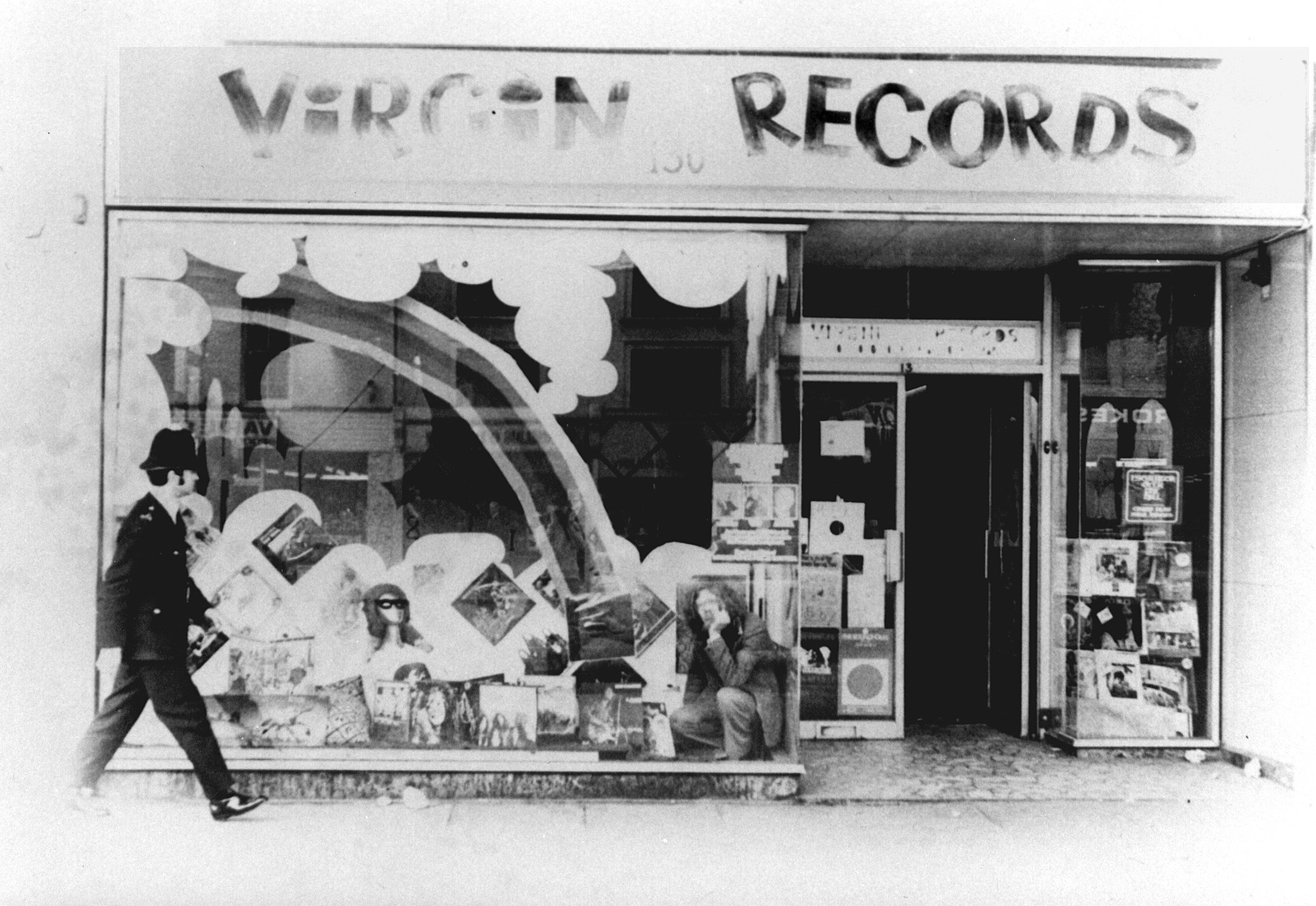 The Virgin Records store in Notting Hill, 1971