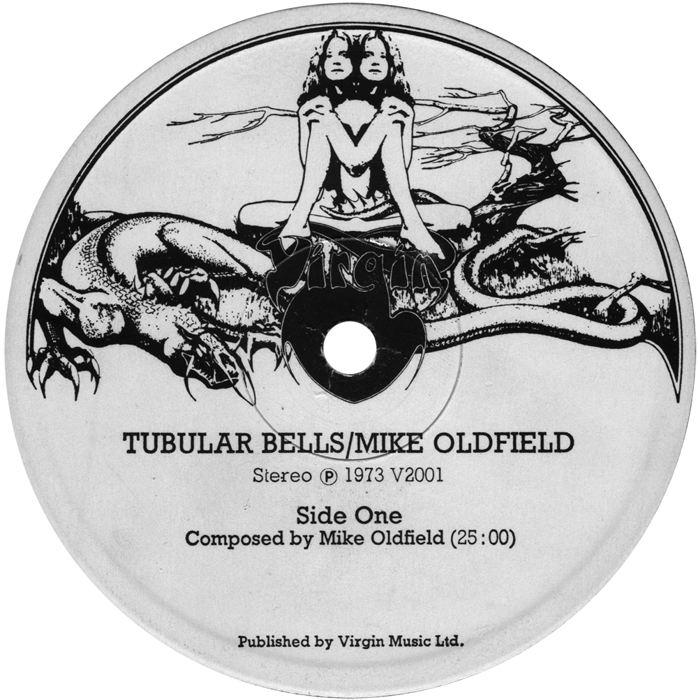 Mike Oldfield's Tubular Bells Virgin Records label