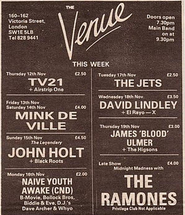 The Venue flyer