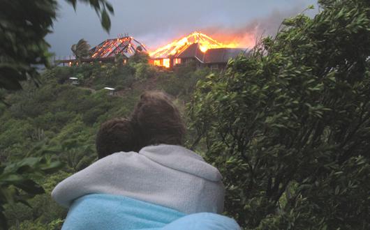 Necker Island fire