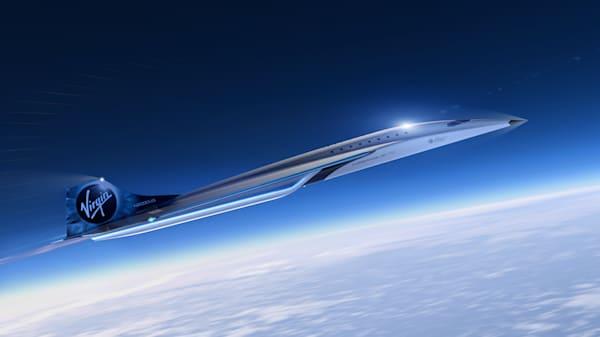 Rendu de véhicule à grande vitesse Virgin Galactic
