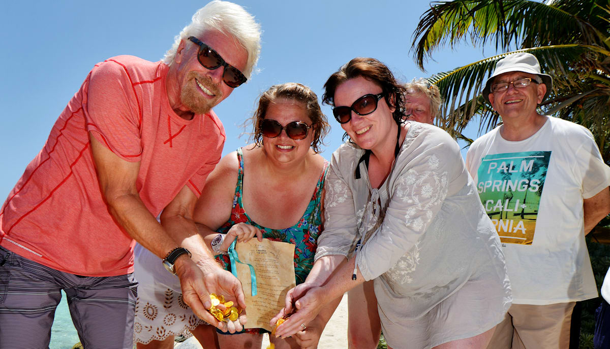 Richard Branson Virgin Red Treasure Hunt winners
