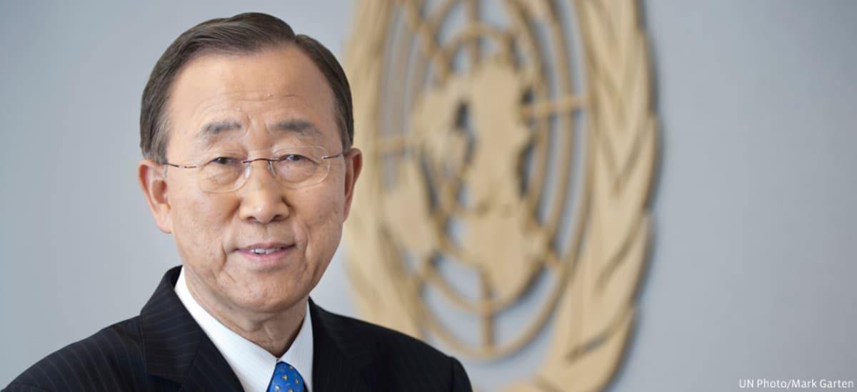 Welcoming Ban Ki-moon to The E...