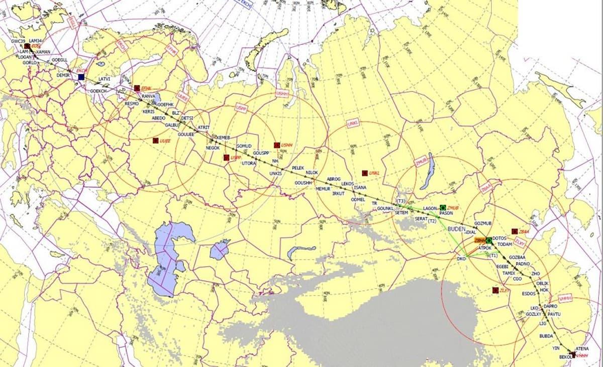 Flight Planning Map on