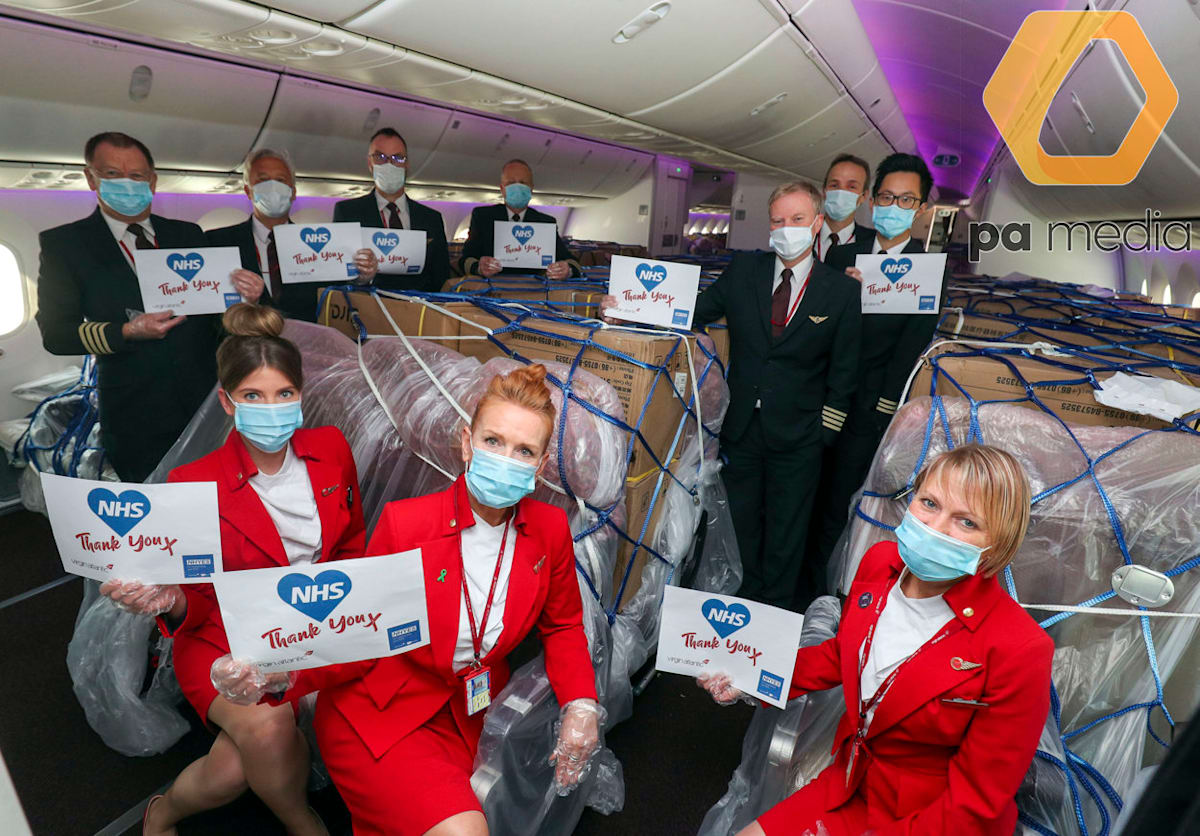 Fourth Virgin Atlantic cargo flight brings hundreds of thousands of PPE  items from China to UK | Virgin
