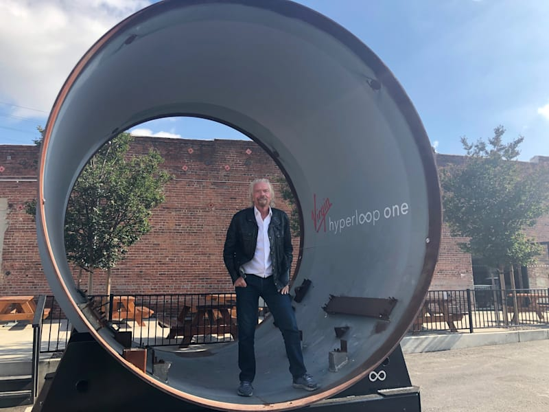 Richard Branson visiting Virgin Hyperloop