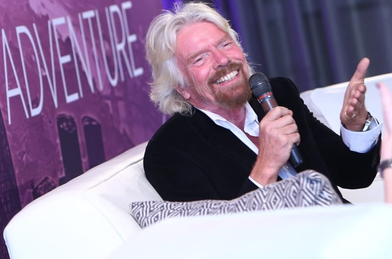 Richard Branson Business is and Adventure microphone