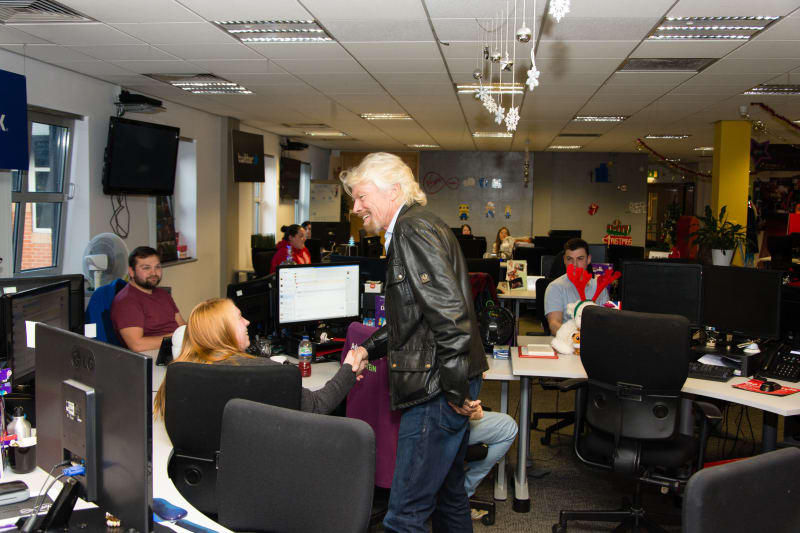 Richard Branson Virgin Media Manchester computer