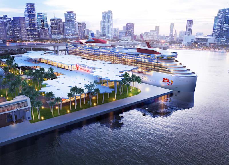 Render of Virgin Voyages' terminal in Port Miami