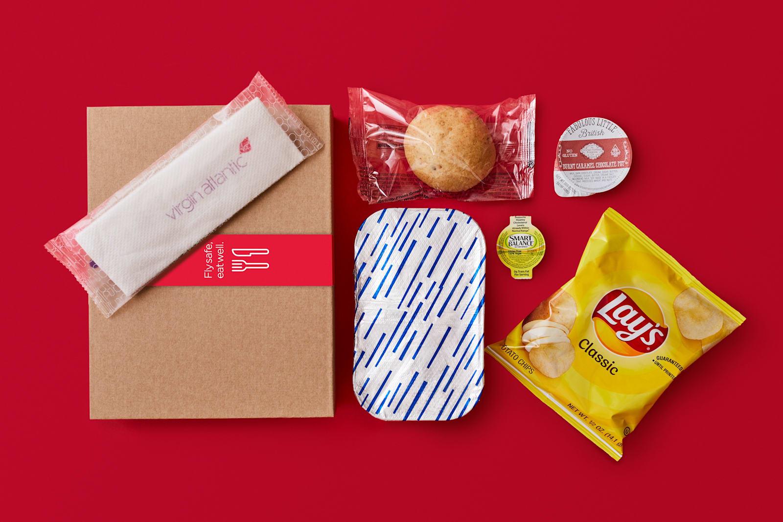 Virgin Atlantic's food box for customers