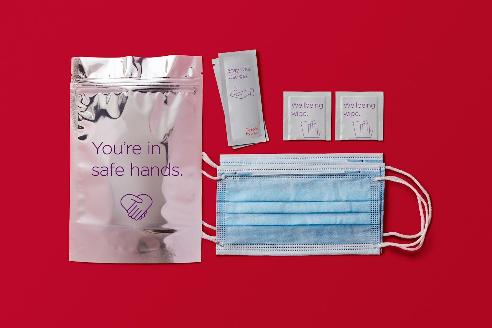 Virgin Atlantic's health pack for customers