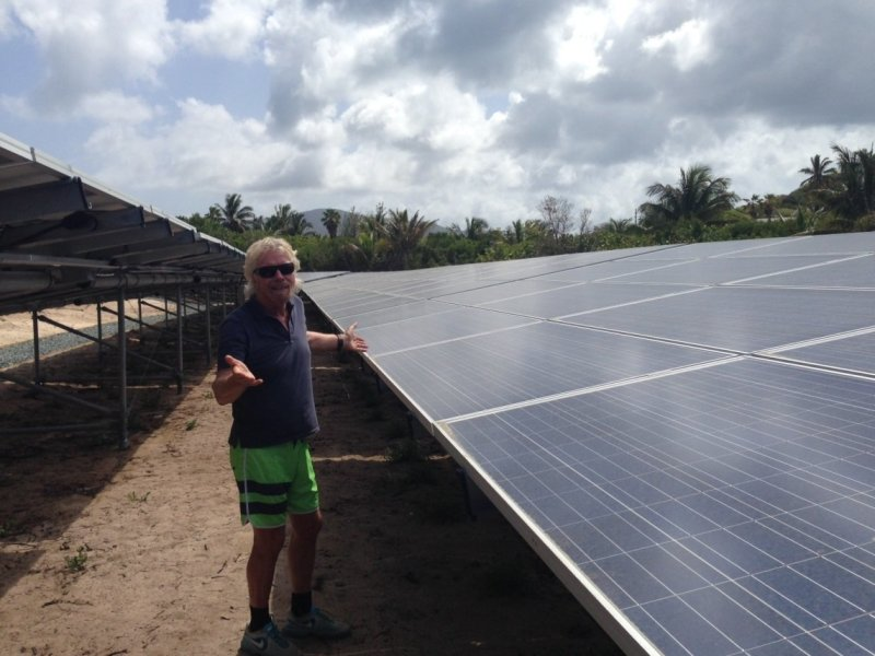 Necker Island goes solar