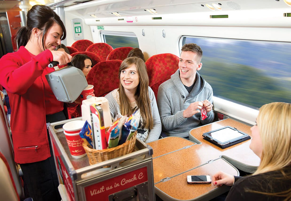Virgin Trains customers and staff