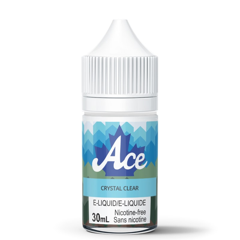 Crystal Clear (Flavorless) E-Liquid - Ace (30mL): 0mg/mL