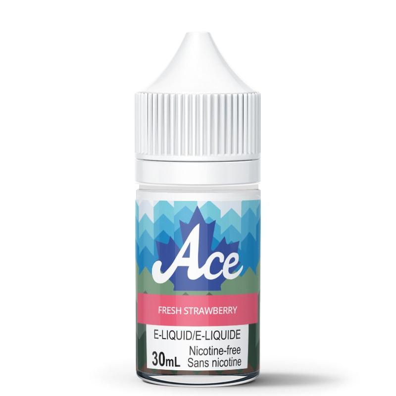 Fresh Strawberry E-Liquid - Ace (30mL): 0mg/mL