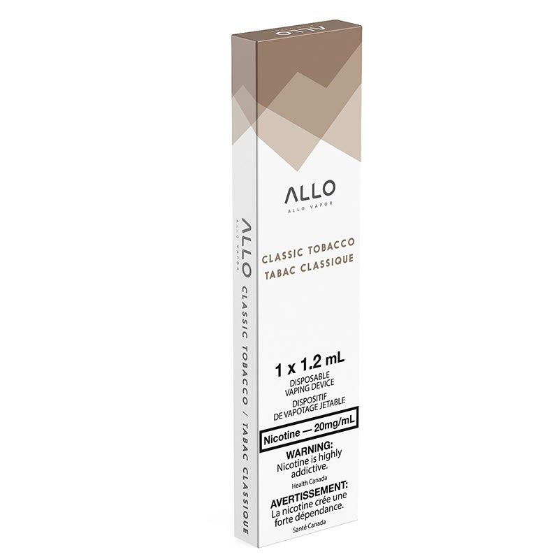 Allo Disposable Vape: Classic Tobacco (1pk): 20mg/mL