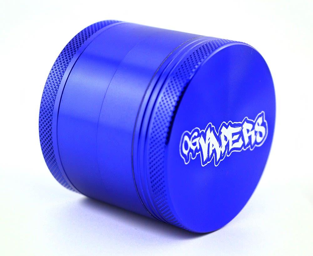 OG Vapers 4-piece Grinder and Sifter - BLUE