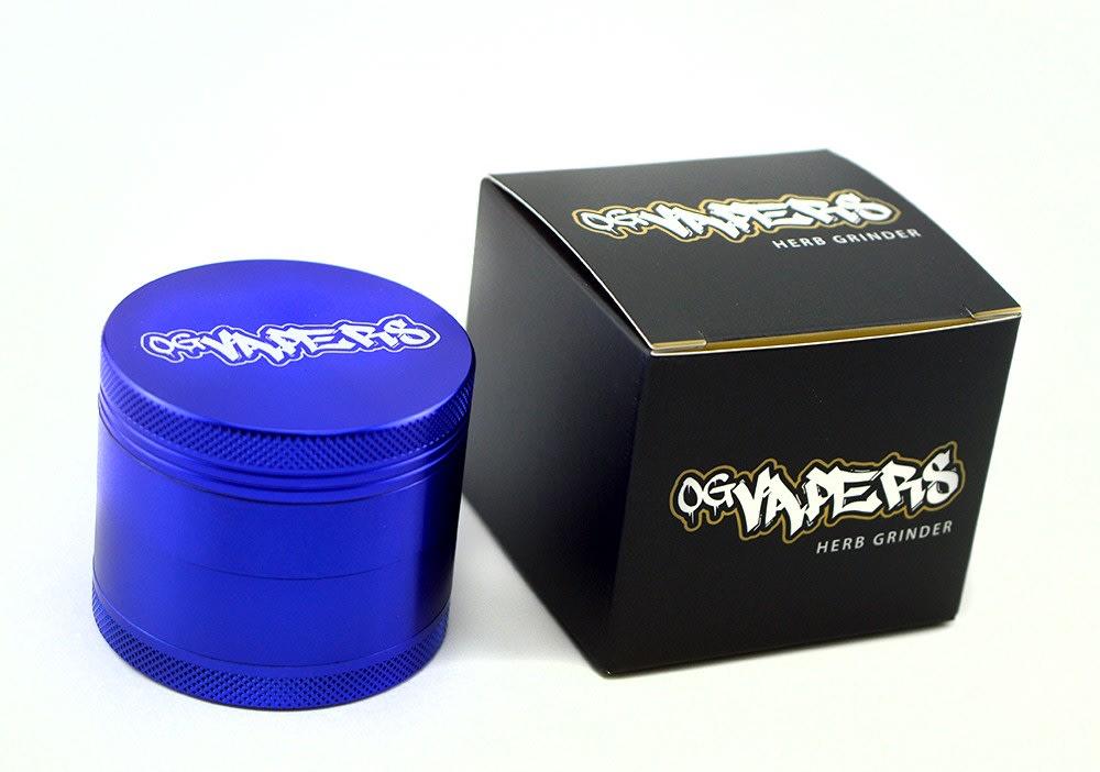 OG Vapers 4-piece Grinder and Sifter- BLUE