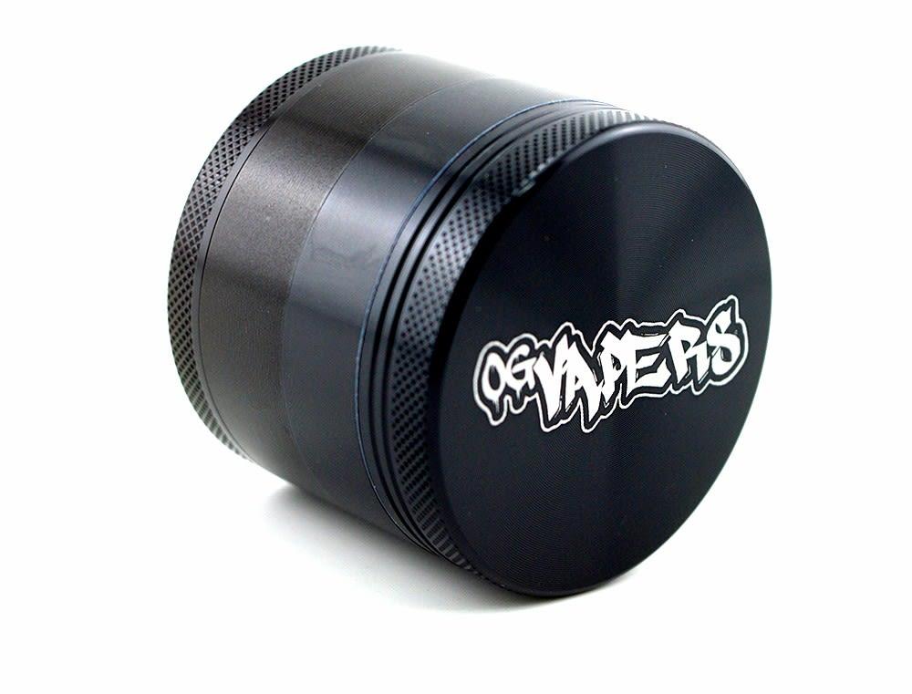 OG Vapers 4-piece Grinder and Sifter - BLACK
