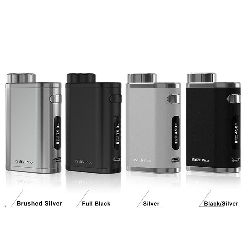 eLeaf iStick Pico 75W TC Box Mod - Brushed Silver, Full Black, Silver, Black/Silver