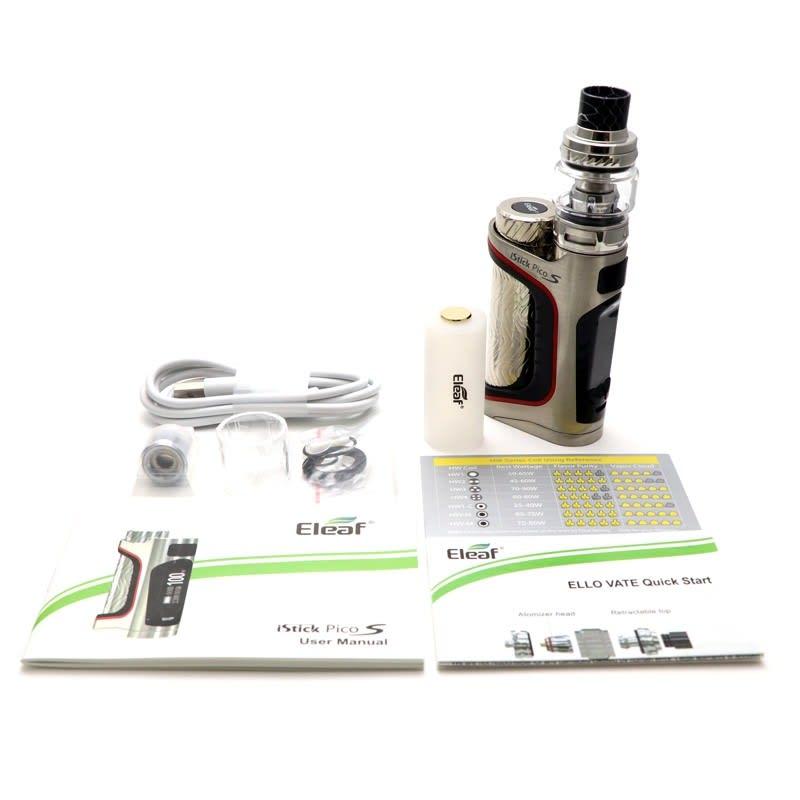 Eleaf iStick Pico S 100W TC Kit w/ Ello Vate - SILVER