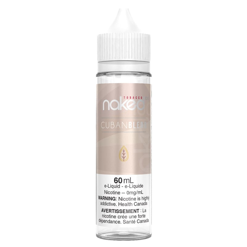 Cuban Blend E-Liquid - Naked 100 (60mL): 0mg/mL