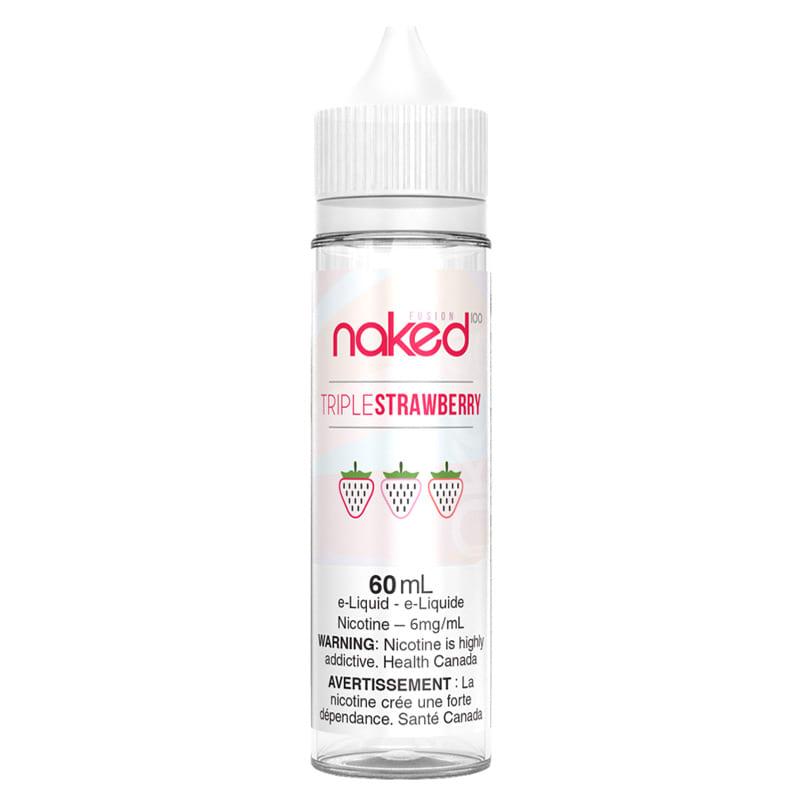Triple Strawberry (Yummy Yum) E-liquid - Naked 100 (60mL) (6mg)
