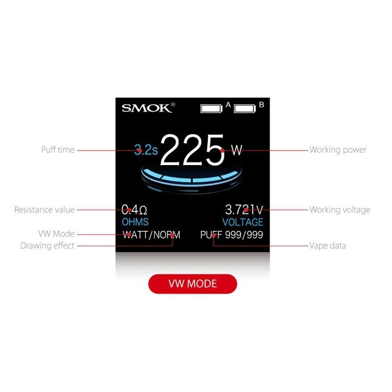 SMOK ProColor 225W - VW Mode