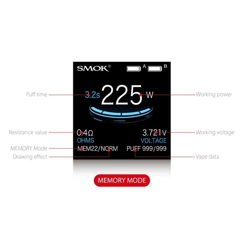 SMOK ProColor 225W - Memory Mode